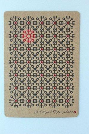 画像2: ポストカード(太陽の文様)