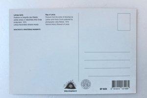 画像2: ポストカード(ラトビアの地図)