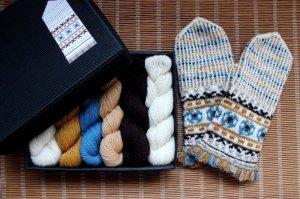 画像1: ミトンの手編みキット 3 (ゼムガレ地方1)