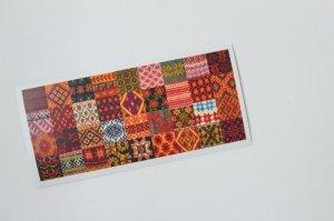 画像1: ポストカード(ニットのパターン 長方形)