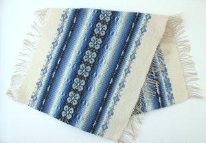 画像2: 毛/麻の手織りテーブルセンター A